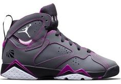 I MUST HAVE THEM  Air Jordan 7 GS Dark Grey/White-Black-Fuchsia Flash