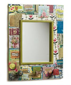 Take a look at this Patchwork Wall Hook Mirror by DEMDACO on #zulily today!