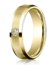 Mens Diamond Bands | Single Round Cut Diamond
