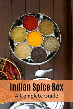 Indian spice box or masala dabba - It is essential, very functional in almost every Indian household's kitchen. You should have it, if you are cooking Indian food more frequently. Indian Spice Box, Khandvi Recipe, Indian Cookbook, Fried Fish Recipes, Garlic Recipes, Curry Recipes, Indian Kitchen, India Food, Chutney Recipes