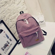 2017 Women Canvas Backpacks Ladies Shoulder School Bag Rucksack For Girls Travel Fashion Casual Bags Bolsas Mochilas Sac A Dos