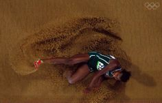 Blessing Okagbare of Nigeria competes in the Women's Long Jump
