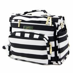 Legacy B.F.F. Diaper Bag - A chic black and white stripe #diaperbag will make any new mama look like she's got it all together.