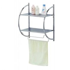 us spacesaver bathroom towel shelf wall mount rack towels hanging bars hooks