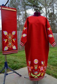 Women's Traditional Embroidered Powwow Regalia