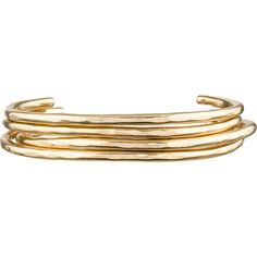Pre-owned Jennifer Fisher Set of 14K Gold Open Bangle Bracelets ($2,195) ❤ liked on Polyvore featuring jewelry, bracelets, gold, gold hinged bangle, 14k gold jewelry, gold bracelet bangle, 14 karat gold bangle bracelet and 14k gold bangles