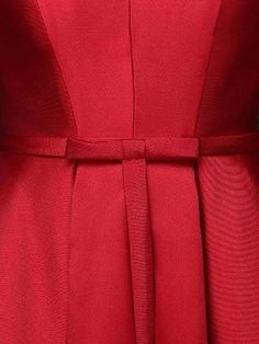 Red Plunge Neck Bowknot Waist Lacing Back Prom Skater Dress | Choies