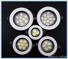 Super Bright 3W 5W 7W 9W 12W LED Downlight Recessed Ceiling Spotlight Epistar Chips Round Paiting LED Down Light Include Drivers Online with $4.91/Piece on Mdllight's Store | DHgate.com