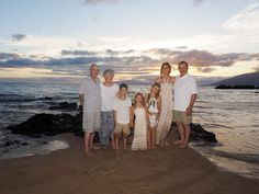 The family together on Maui at Kamaole III Beach Park. View more images from this family portrait photo shoot: http://mauiislandportraits.com/the-family-together-on-maui/