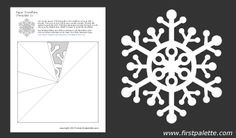 12 free downloadable snowflake templates ~ some would be too fine for young children