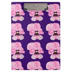Pink Pansies Clipboard
