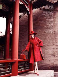 Sui He n' Nan Fulong [] by Mario Testino [] 'Portrait of a Lady [] #VogueChina [] December2013 []