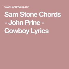 John Prine - Sam Stone Lyrics | MetroLyrics