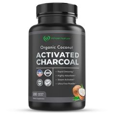 Whole Nature 180 Capsules Pure Organic Coconut Activated Charcoal Supplements Natural Pills for Body Detox Digestive System Teeth Whitening Detoxification Gas Stomach Bloating Tablets Activated Charcoal Capsules, Coconut Activated Charcoal, Detox Digestive System, Body Detox, Stomach Bloating, Teeth Whitening, Pills, Organic