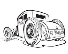 Illustration - SIN Customs - Hot Rod Car Art