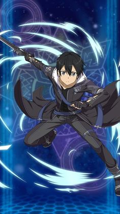 Kirito is my favourite actor and my fan Kirito is my hero in Sword Art Online Kirito Sword, Kirito Asuna, Sword Art Online Kirito, Arte Online, Online Art, Sao Anime, Manga Anime, Manga Girl, Anime Girls