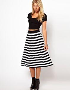 ASOS Midi Skirt in Stripe