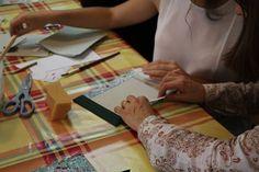 As nossas alunas e os seus trabalhos  (Encadernação Japonesa - II Parte - 27/09/2014)