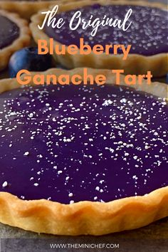 Not only is this tart beautiful, but it has a perfectly balanced flavor as well. The fruitiness of the blueberries pairs with the sweetness of the white chocolate to create a completely unique dessert. #tart #dessert #blueberries #tartrecipe #recipe #ganache #ganacherecipe #dessertrecipe #fourthofjulyrecipe Unique Desserts, Creative Desserts, Easy Desserts, Delicious Desserts, Tart Recipes, Vegan Recipes Easy, Baking Recipes, Party Food And Drinks, Sweet Tarts