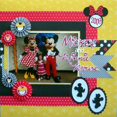 Mickey and Minnie Mouse layout with adorable silhouettes.