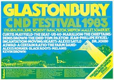 Glastonbury's festival posters are as individual as the fest itself   Typorn.org