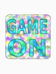GAME ON - Text by M-Lorentsson
