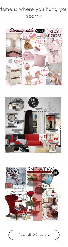 """""""Home is where you hang your heart ღ"""" by cafejulia ❤ liked on Polyvore featuring interior, interiors, interior design, home, home decor, interior decorating, Gund, By Nord, Levels Of Discovery and RoomMates Decor"""