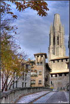 Girona   Barri vell,Sant Felix, Catalonia