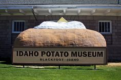 The Idaho Potato Museum, Blackfoot, Idaho! Come see the worlds largest baked potato! Idaho Potatoes, See World, Idaho Falls, Come And See, The Good Place, City, Museums, Potato Chip, Chips