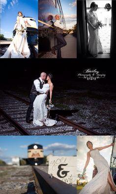 Train wedding bride