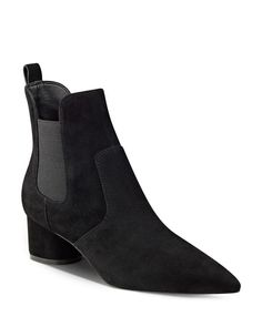 Kendall and Kylie Logan Suede Chelsea Booties  | Suede/textile upper, synthetic lining, synthetic sole | Imported | Fits true to size, order your normal size | Elasticized gores for a flexible fit  |