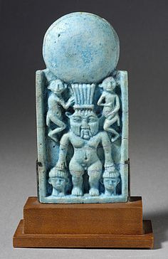 STAR GATES: 3 different residents of the Earth with a round object of energy or antenna??? Egypt: late period, 712-332 B.C.