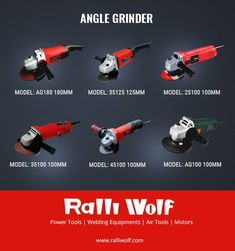 Choose from a wide range of Angle Grinders at http://Ralliwolf.com  Tackle smoothing, cutting and grinding a variety of materials with ease. #anglegrinders