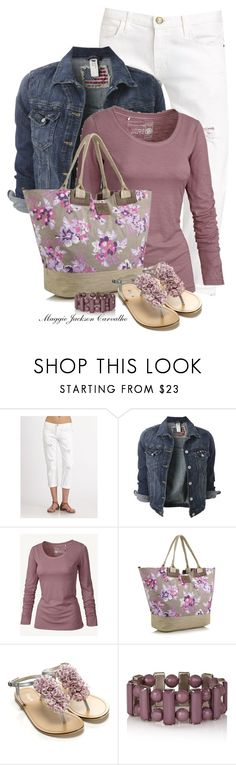 """Floral Bag"" by maggie-jackson-carvalho on Polyvore featuring Current/Elliott, Fat Face, Mantaray and Accessorize"