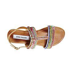 GILDEDD BRIGHT MULTI women's sandal flat ankle strap - Steve Madden