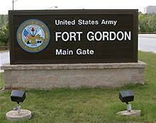 Fort Gordon, GA. This is where we lived on our first military move, while my husband was in AIT.