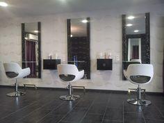 salon de coiffure ambiance moderne Le fil de l'âme Nos réalisations Meubles pour coiffeur Paris, Marseille - GDS Design