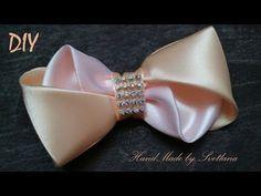 Бантик из ленты Канзаши DIY Bow of ribbon Kanzashi Laço de Cetim Curva da fita Baugen av bånd - YouTube