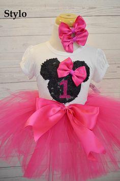 Minnie Mouse Tutu Set order or follow us on Facebook ; www.facebook.com/... #minniemouse #pinktutu #birthday #styloboutique