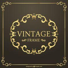 Vintage Golden Frame Vector (Ai Download)