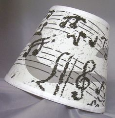 Music Notes Treble Clef Staff Lamp Shade (10 Sizes to Choose From). $32.99, via Etsy.