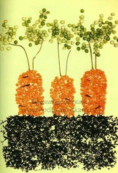 Зерно и семена Fall Crafts For Kids, Art For Kids, Pasta Art, Arts And Crafts, Diy Crafts, Crochet Earrings, Mosaic, Fruit, Inspiration
