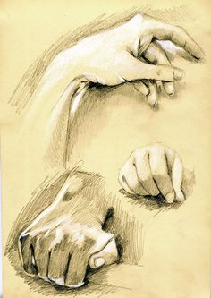 Need to work on my hand and feet drawings - will do a few studies like this