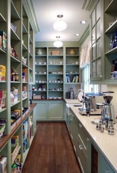 Next lay out and color for a pantry