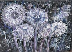 FLUFFY ANGELS by Mihaela Marilena Chitac. Medium: coloured inks on glossy paper; Angels, Chandelier, Ceiling Lights, Paintings, Artwork, Artist, Flowers, Color, Art Work