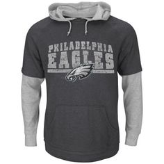 Philadelphia Eagles Majestic Crucial Call III 2-For-1 Hoodie and T-Shirt – Gray