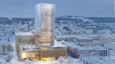 Side by Side (Sida vid Sida), Sweden......proposed Timber and bamboo building for Skelleftea, Sweden -- wooden buildings are branching out