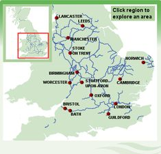 Canal boat holidays in England - interactive map of the English Waterways