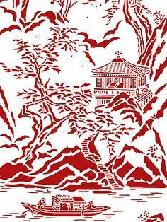 Chinoiserie Stencils Chinese Ravine Stencil Chinese Stencil