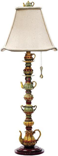 "0-002877>35""""h Tea Service Candlestick 1-Light Table Lamp Burwell"